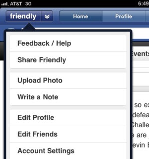 Friendly Remakes Facebook for Better iPad Usability