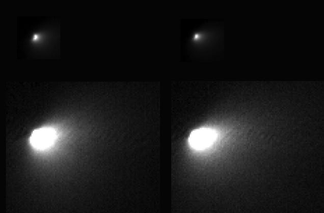 First Up-Close Images of Mars's Near-Miss Comet