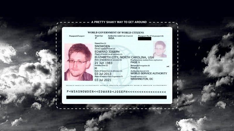 Edward Snowden Just Got a New Passport (But Good Luck Using It)