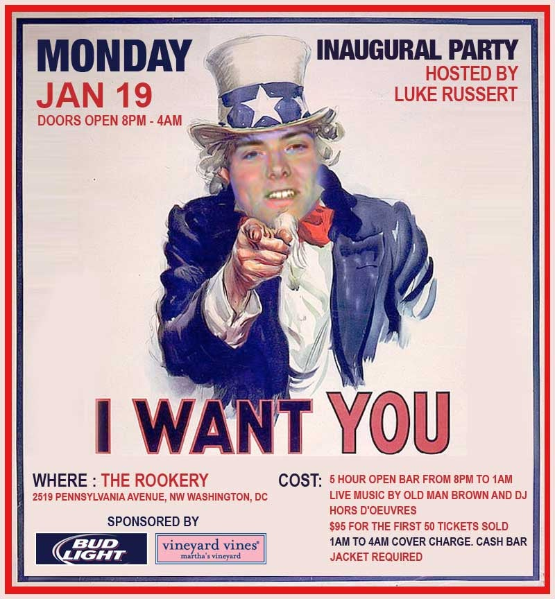 You Should Go To Luke Russert's Inaug-Eve Partay