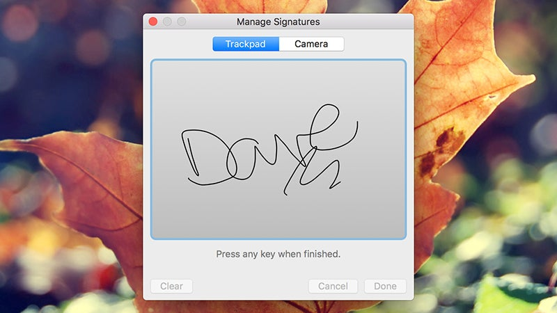Use Preview on a Mac to Add Your Signature to Emails and Documents