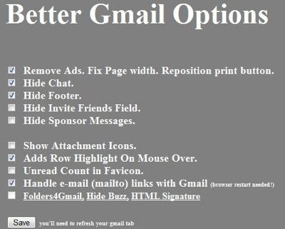 Unofficial Better Gmail for Chrome Bends Gmail to Your Will