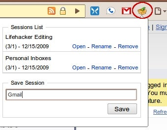 Session Manager Enables Multi-Tab Setups in Google Chrome