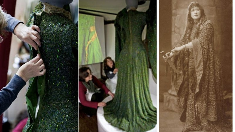 Beetle-Covered Gown Returned To Former Glory