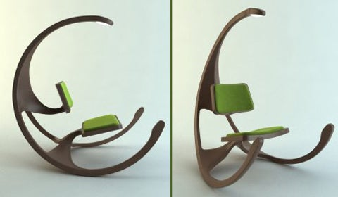 Concept Rocking Chair Comes with Overhead Light, Alien Hipness
