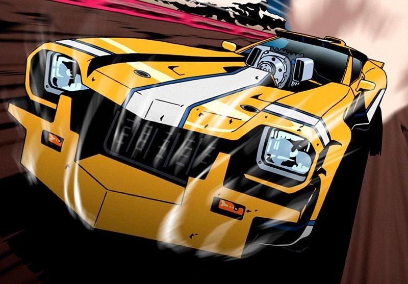 Cartoon Yellow V8