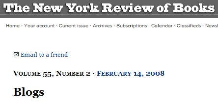 'NYRB' Explains Blogs