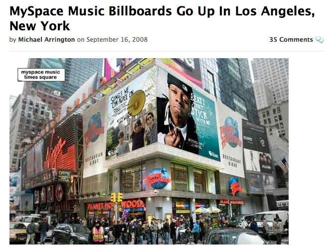 Michael Arrington's MySpace Music review, the 100-word version