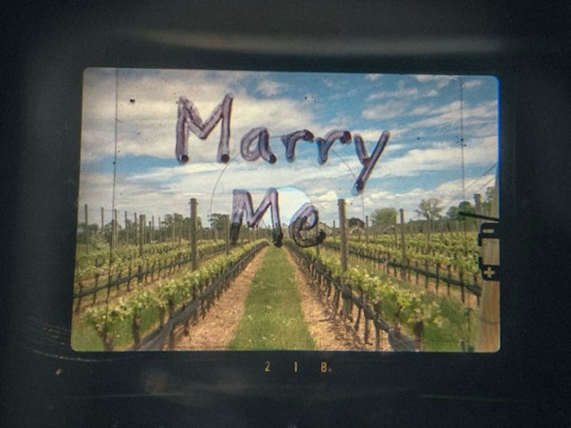 A Proposal Using a Camera's Viewfinder Is Pretty Damn Cute