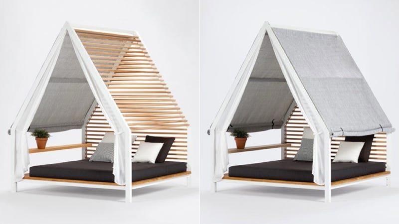 Adjustable Slats Make This Outdoor Bed (Almost) An All-Weather Bed