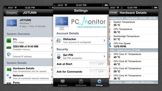 PC Monitor Controls and Monitors Your Windows PC from Your Phone or Tablet
