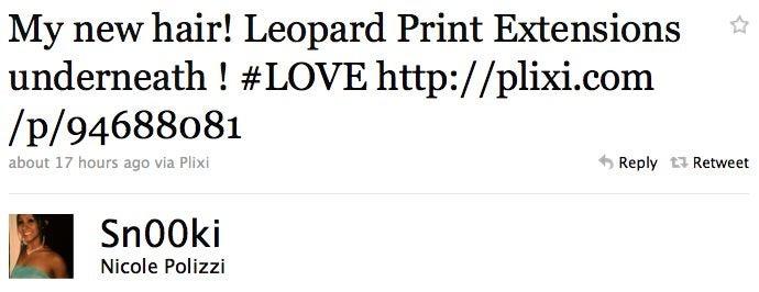 Snooki Got Leopard Print Hair Extensions