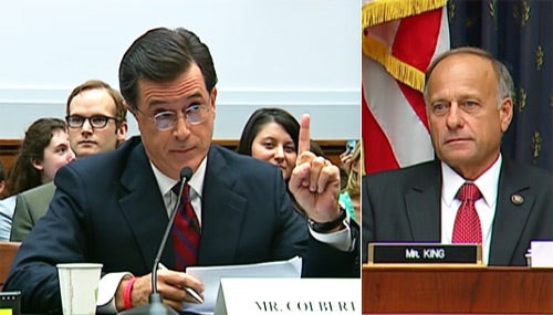 Stephen Colbert Testifies Before Congress, Despite Being Asked to Leave