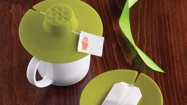 Tea Bag Buddy Holds Your Tea Bag While it Steeps and Contains the Mess When You're Done