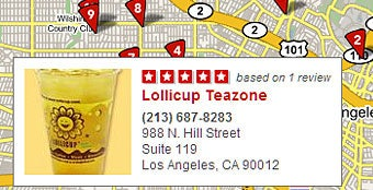 Yelp maps business reviews