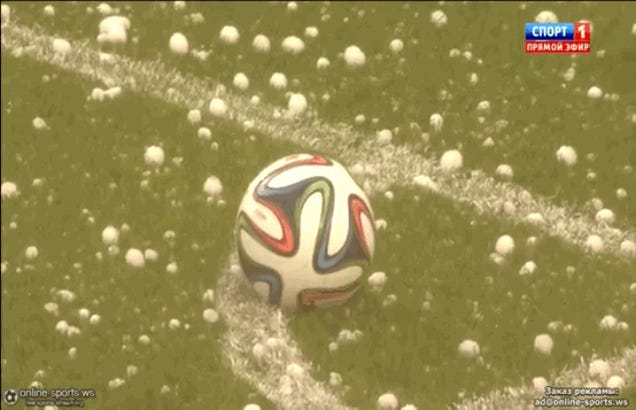 Belgium's World Cup Tune-Up Interrupted By Giant Hail Storm