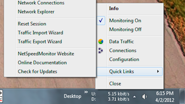 NetSpeedMonitor Keeps Your Network Activity in the Taskbar, Shows You Bandwidth Reports On Demand