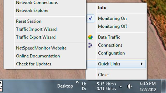 NetSpeedMonitor Keeps Your Network Activity in the Taskbar, Shows You Bandwidth Reports On Demand