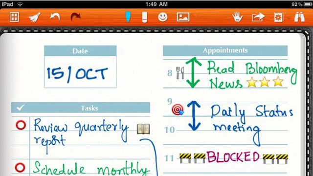 Noteshelf Records Handwritten Notes and Sketches, Automatically Syncs to Dropbox and Evernote