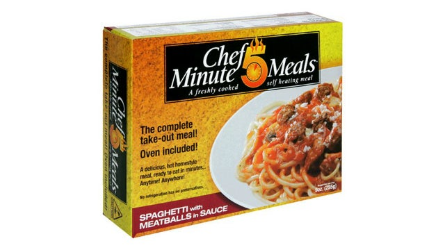 Chef 5 Minute Meals are Self-Heating Go-To Power Outage Food