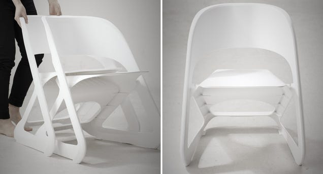 Clever Chairs Stack Horizontally So You Don't Need To Lift a Thing