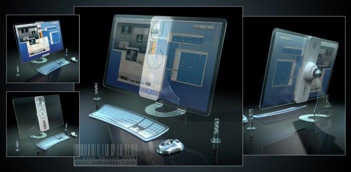 Transparent Screen iMac Mockup