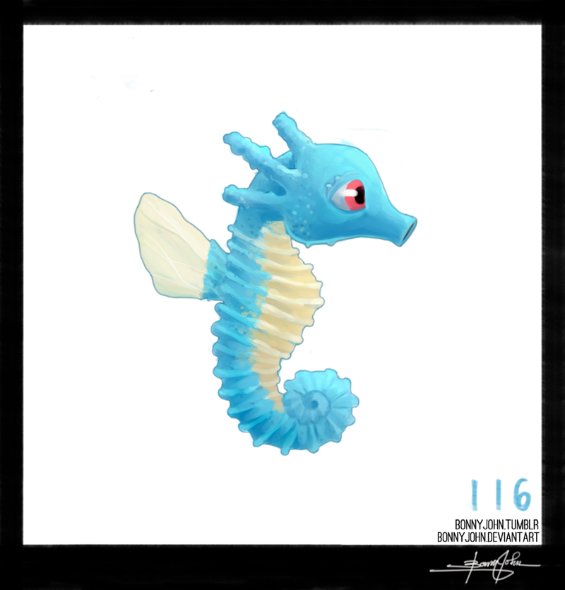 A Sea Horse named Horsea!? Pokemon One a Day!