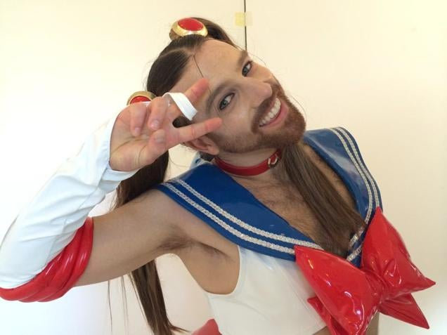 This is ladybeard cosplayer pin up model wrestler and a heavy