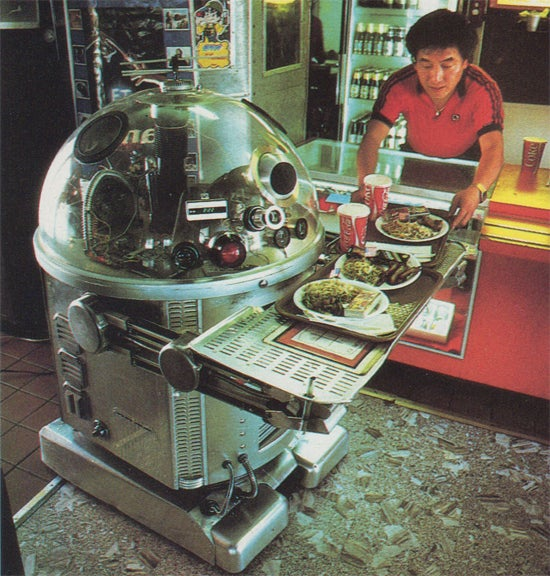 These 1980s robot waiters were real, but they were terrible at their job