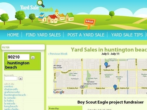 Yard Sale Search Catalogs Yard Sales Across Your Locale