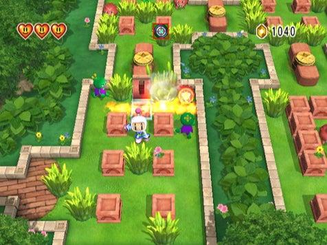 Bomberman Wii Screens Are Simple, Joyous