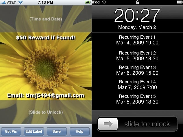 Make Your iPhone's Wallpaper Useful With Google Calendar and Notes