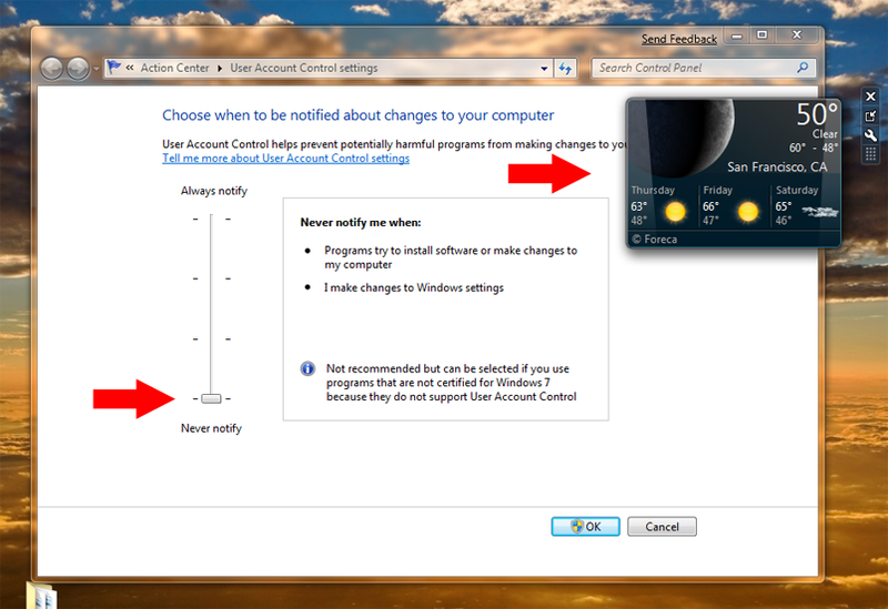 Win 7 Tip: Registry Tweak Fixes Window Gadgets and UAC Incompatibility