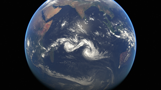 Two Cyclones Dance On The Indian Ocean