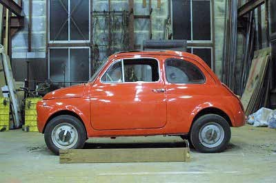 Japanese Ironsmith Creates Bulldozer Out Of Fiat 500