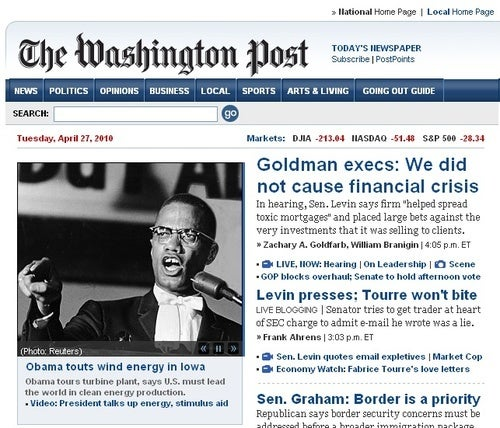 The Washington Post Cannot Tell Obama From Malcolm X