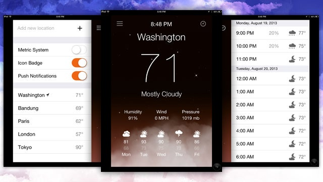 Aero Weather Is an Animated, iOS 7-Ready Weather App for iPhone