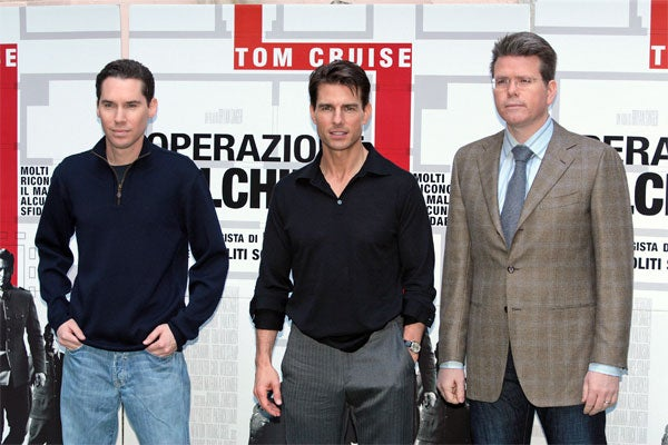 Tom Cruise & Film Crew: Still Life With ________
