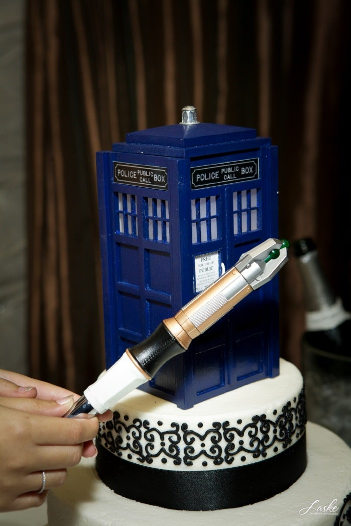 Every Doctor Who-themed wedding should have a K-9 ring bearer