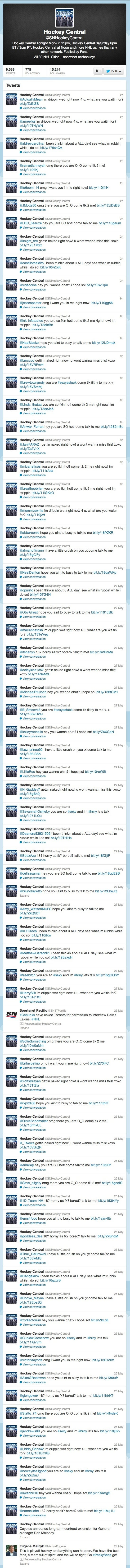 Sportsnet's Hockey Twitter Account Has Been Hacked For Five Days