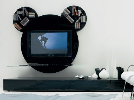 Mickey Mouse TV Mount Looks Like Something You Would See In The Neverland Ranch