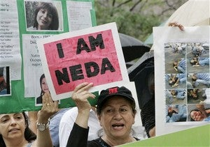 Neda's Family Driven From Home • Woman Pleads Guilty To Drunk Breastfeeding