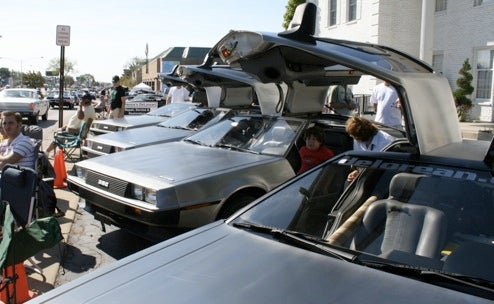 DeLorean Fleet Locks S-Foils Into Attack Position On Woodward Avenue