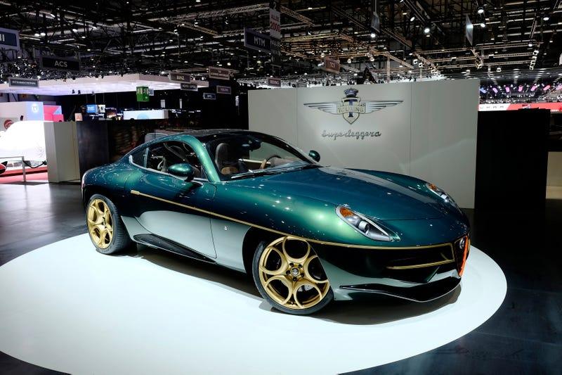 Throw Acid In My Eyeballs It's A Green/Gold Alfa Romeo Disco Volante