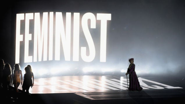 What TV Character/Actress Could Stomp On Stage at the Emmys Before a FEMINIST Sign?