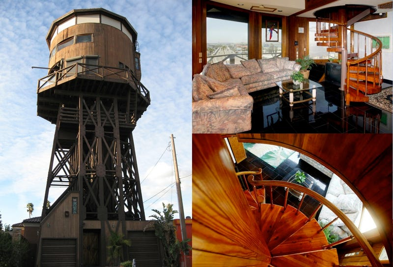 people who live inside water towers. Black Bedroom Furniture Sets. Home Design Ideas