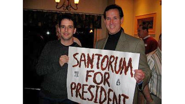 How Much Fecal Matter and Lube Would It Take to Paint a 'Santorum' Sign with Santorum?