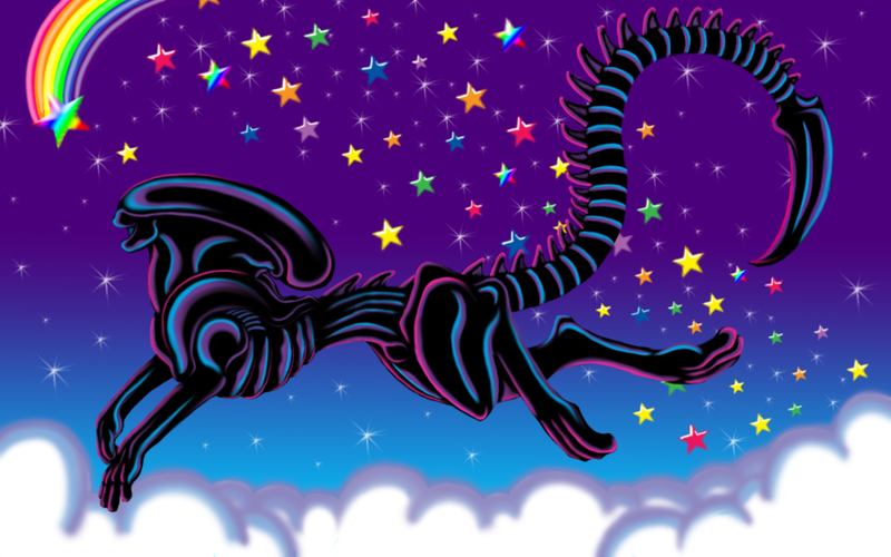What if Lisa Frank made an Alien folder?