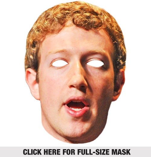Here's Our Mark Zuckerberg Halloween Mask