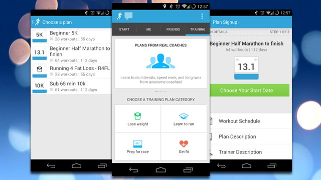 RunKeeper for Android Adds Training Tab with an Array of Fitness Plans
